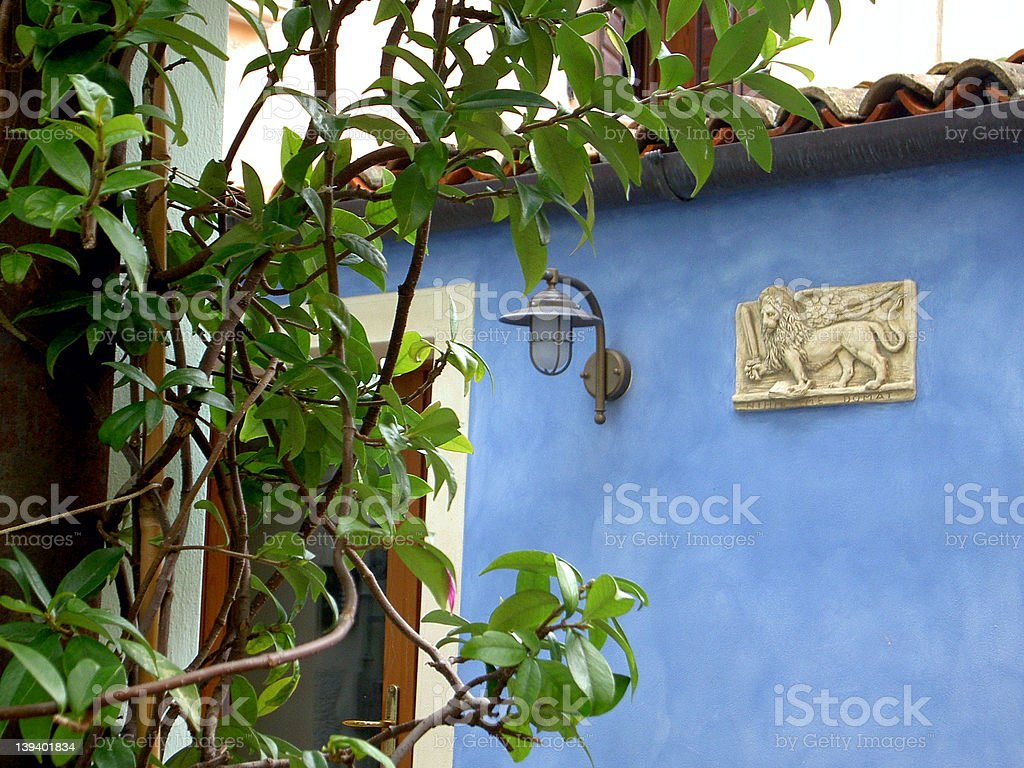 Blue hause royalty-free stock photo