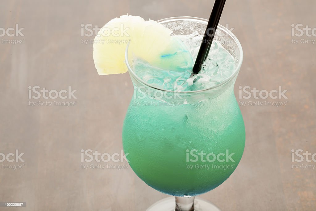 Blue hawaian colada Cocktail royalty-free stock photo