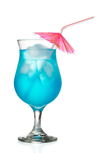 Blue Hawaiian de cocktails - foto de acervo