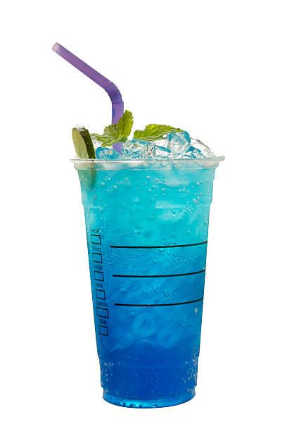 Blue Hawaiian lime soda/Iced blue hawaii stock photo
