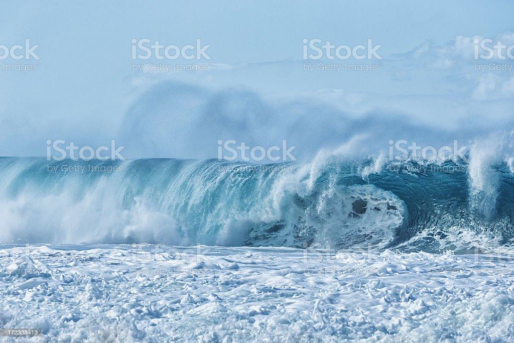 Blue Hawaiian Wave royalty-free stock photo