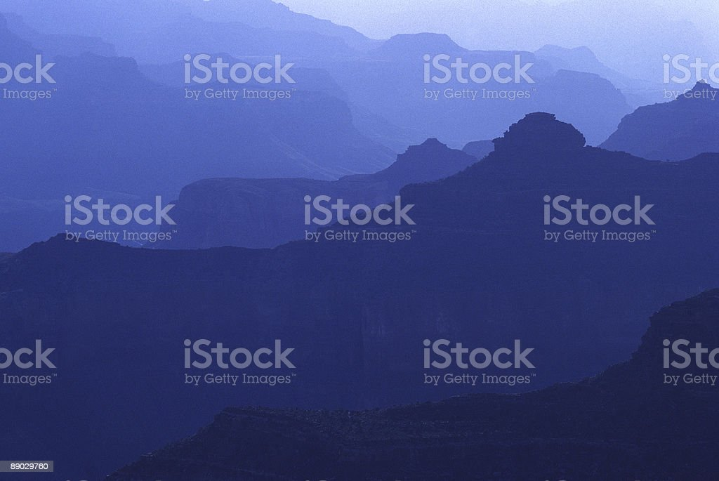 Blue Haze at Sunrise, Grand Canyon stock photo