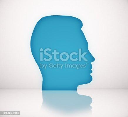 499664303istockphoto Blue head icon 636869354