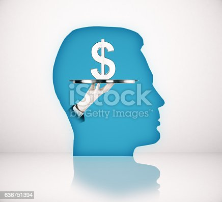 499664303istockphoto Blue head with dollar sign 636751394