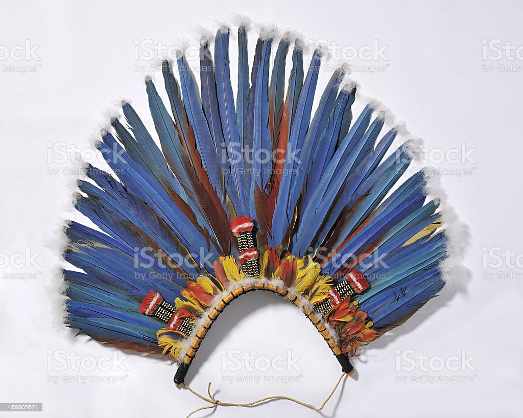 blue headdress stock photo