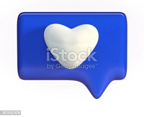 istock Blue Heart Icon. Social Media Like Symbol. 921032426