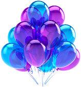 Blue helium balloons party birthday anniversary decoration