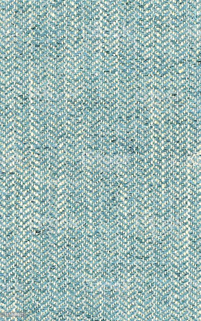 Blue herringbone fabric stock photo