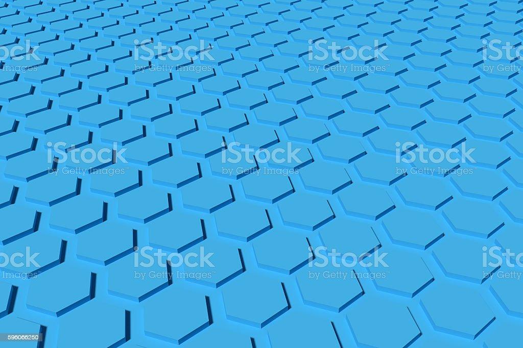 blue hexagon background royalty-free stock photo