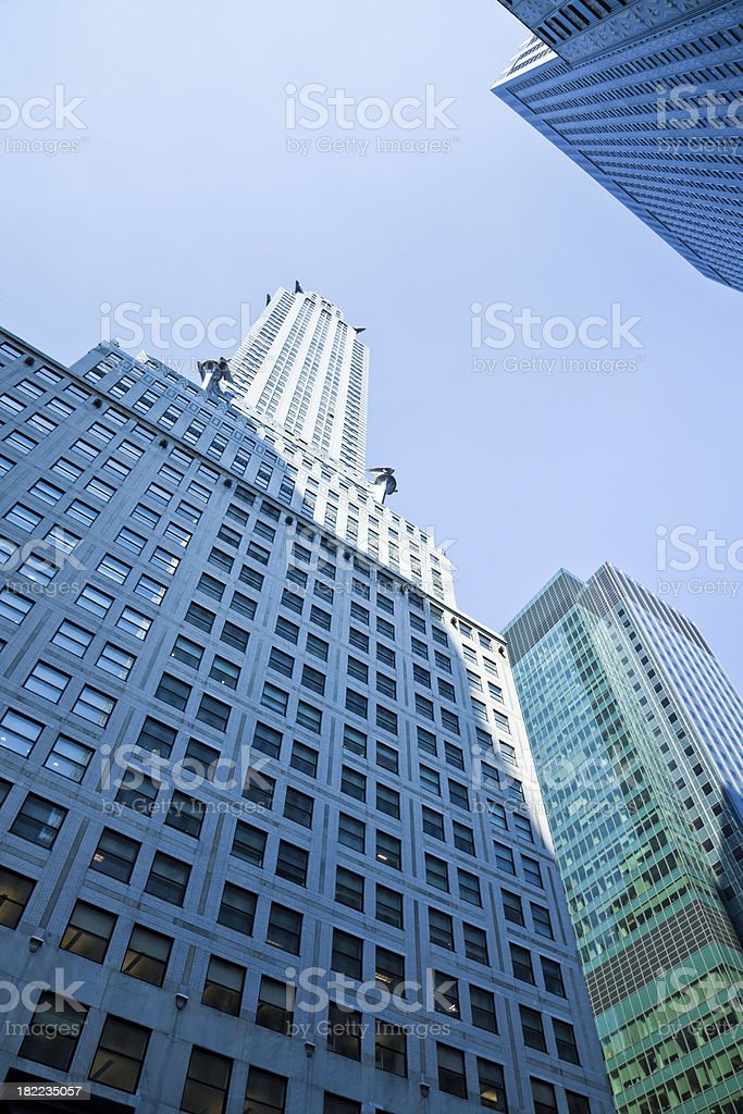 Blue Highrise Modern Architecture NYC royalty-free stock photo