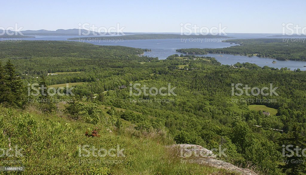 Blue Hill hues stock photo