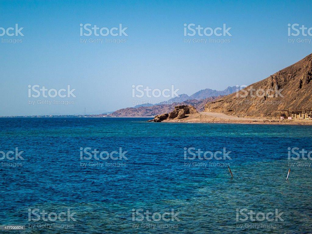 Blue Hole, Dahab, Egypt stock photo