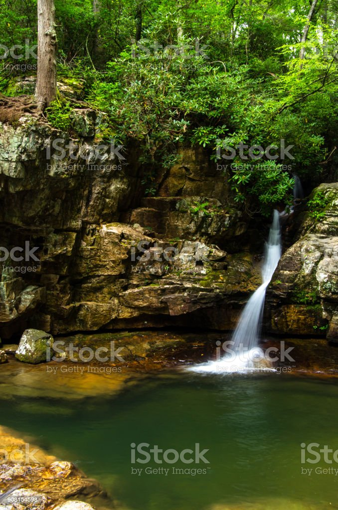 Blue Hole Falls stock photo