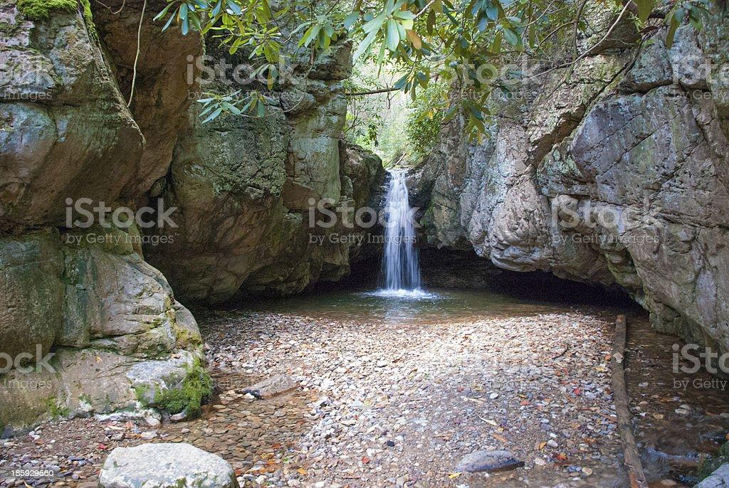 Blue Hole Waterfall royalty-free stock photo