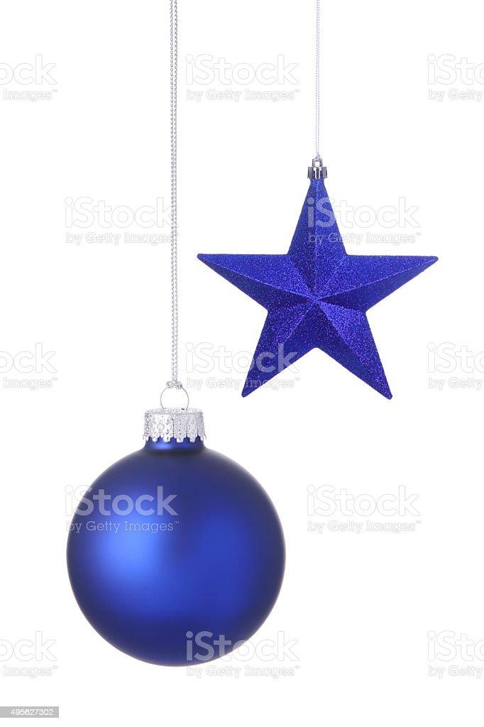 Blaue Urlaub Ornamente – Foto