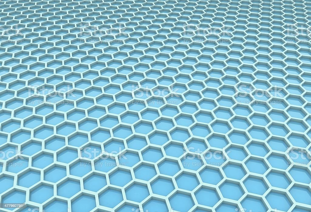 Blue honeycomb royalty-free stock photo