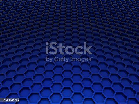 istock blue honeycomb 994984956