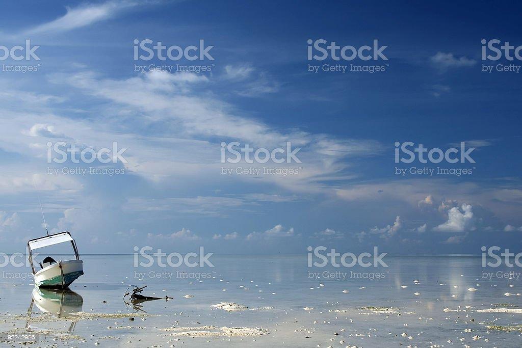 blue horizon tubbataha reefs background philippines royalty-free stock photo