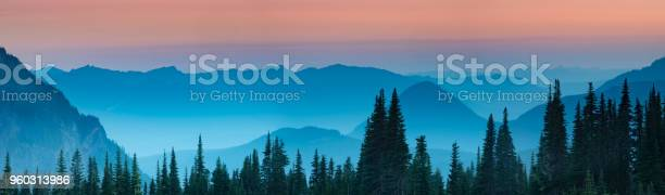 Photo of Blue hour after sunset over the Cascade mountains
