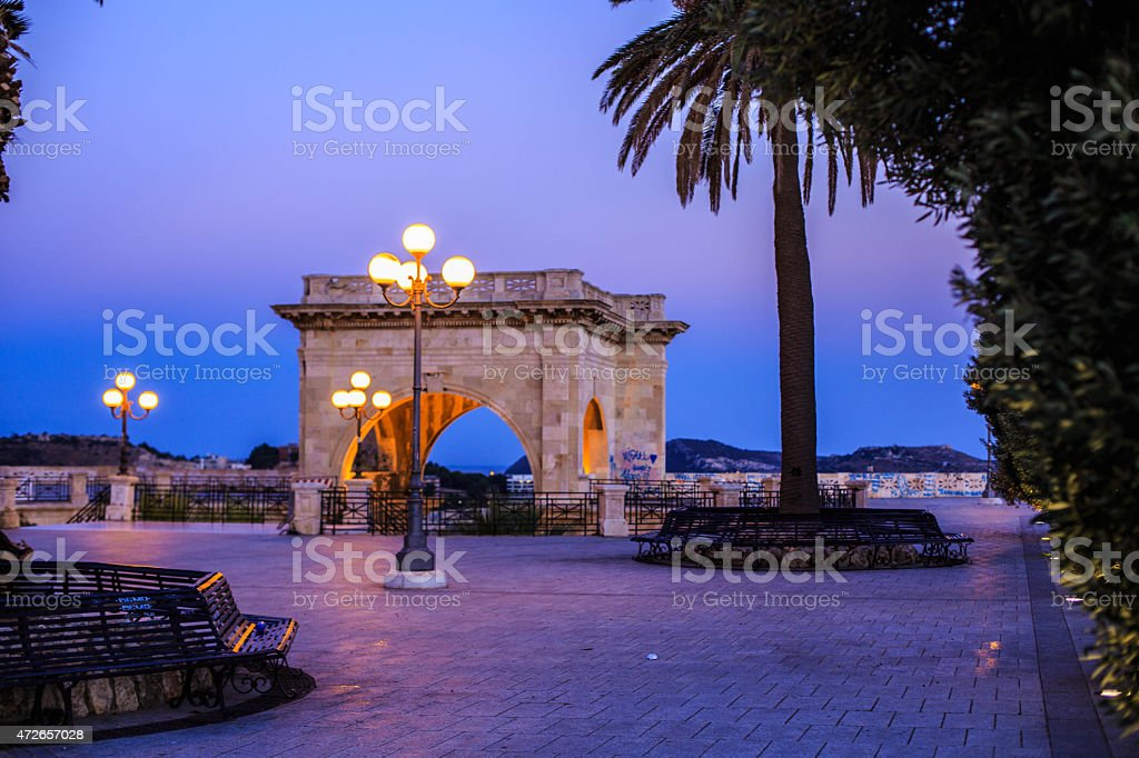 Blue hour at Bastione stock photo