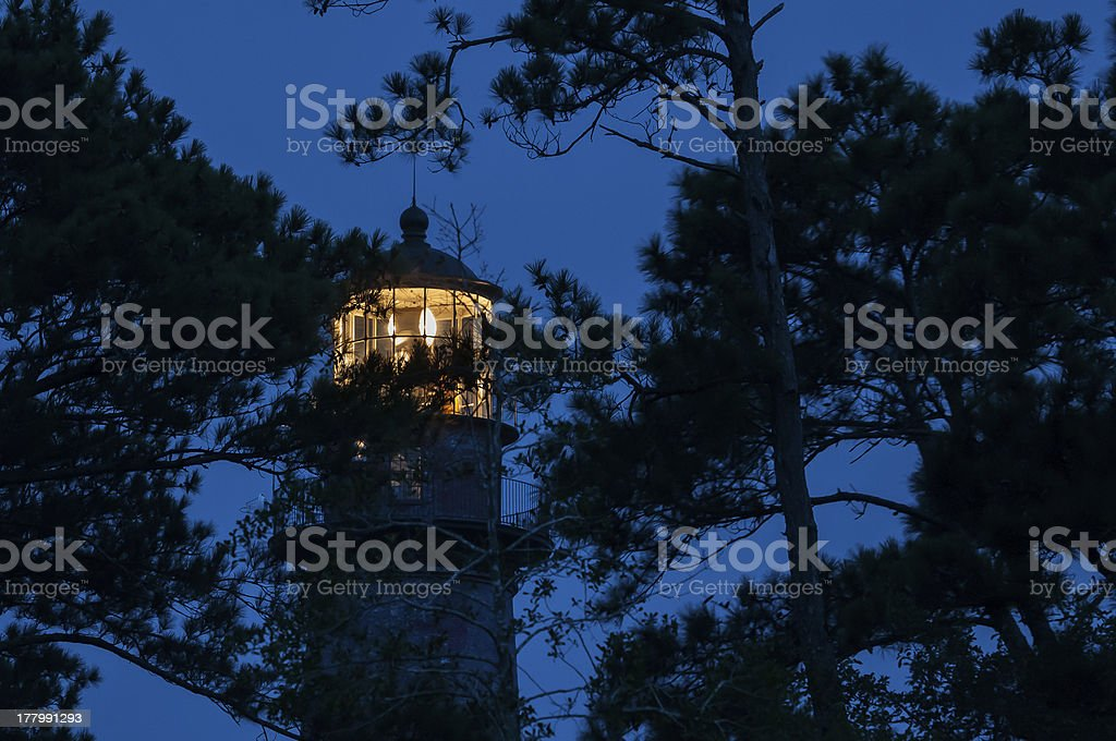Blue hour lighthouse royalty-free stock photo