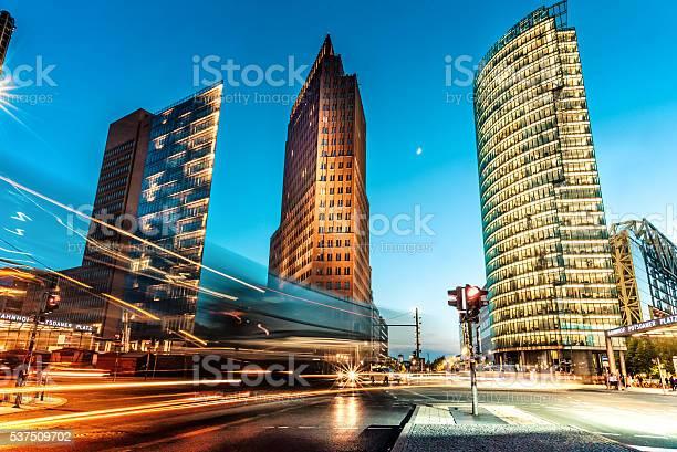 Photo of blue hour over Postdamer Platz in Berlin