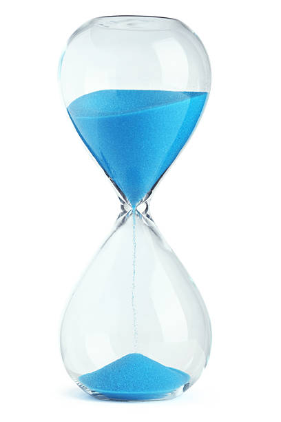 Blue hourglass Blue hourglass timer stock pictures, royalty-free photos & images