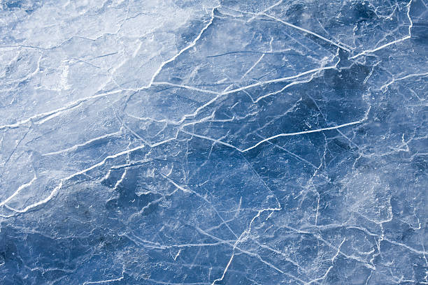 Blue Ice abstraction stock photo