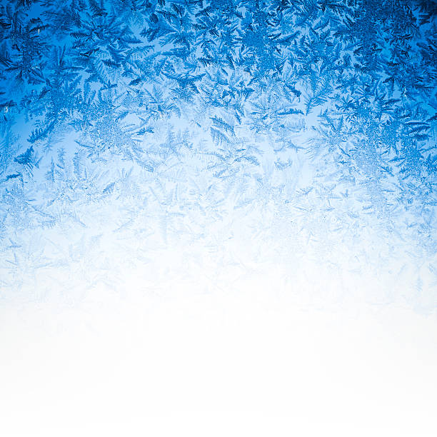 blue ice background - ice crystal stock pictures, royalty-free photos & images