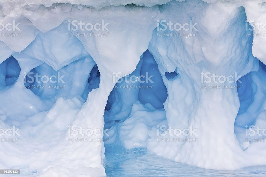 Blue ice cave stock photo