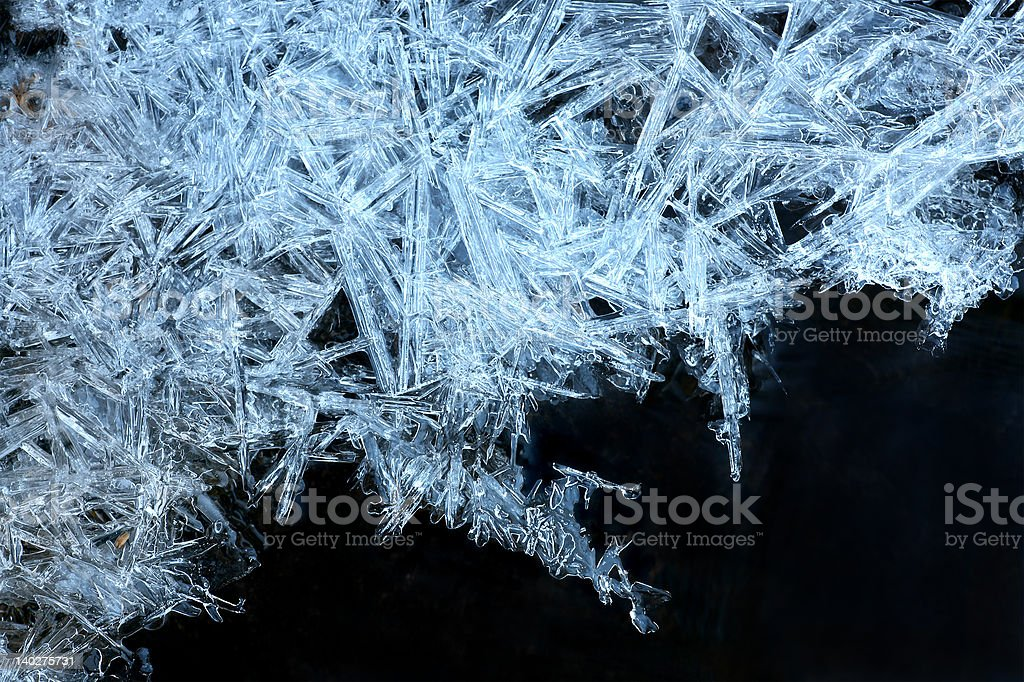 blue ice crystals royalty-free stock photo