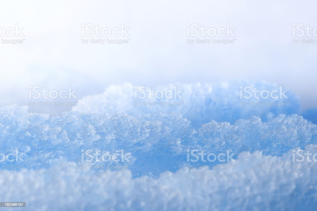 Blue Ice Crystals. stock photo