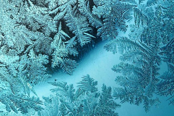 Cristaux de glace bleue (crystallization) - Photo