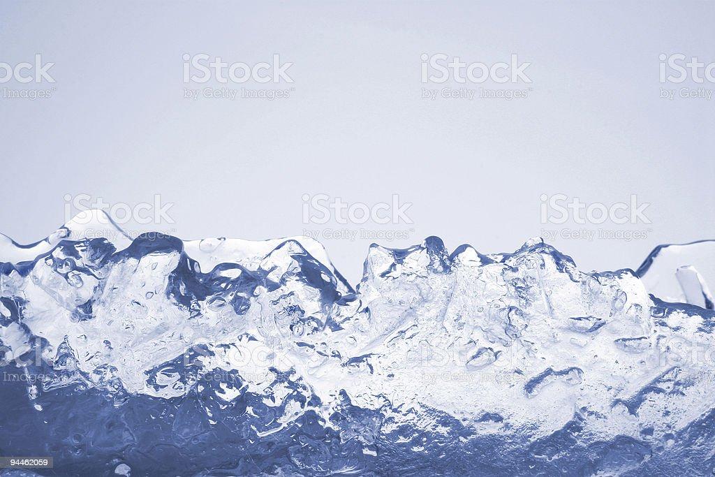 Blue ice mountains isolated on background stock photo