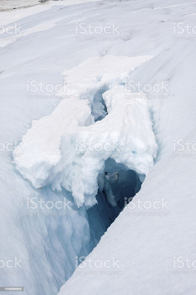 Blue ice of the Bodalsglacier (Jostedalsbreen national park) royalty-free stock photo