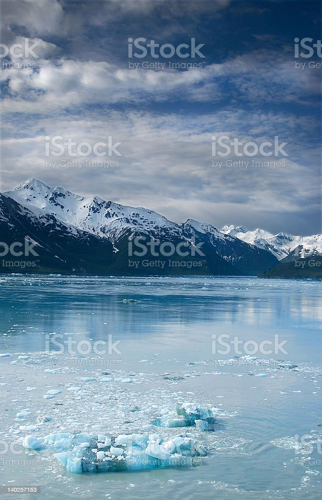 Blue ice on the ocean royalty-free stock photo