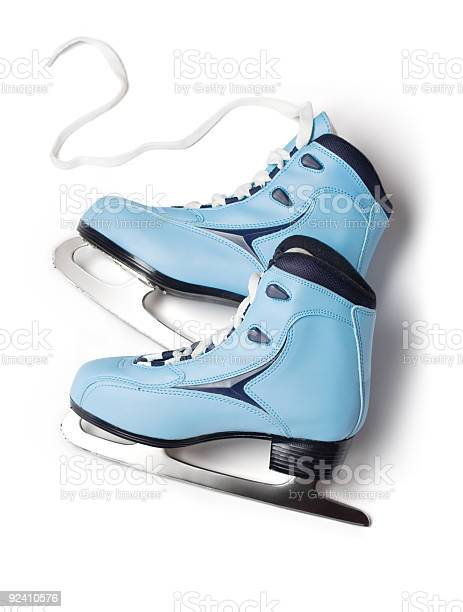 Blue Ice Skates Stock Photo - Download Image Now