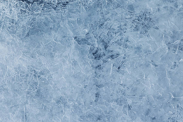 Blue ice texture, abstract background stock photo