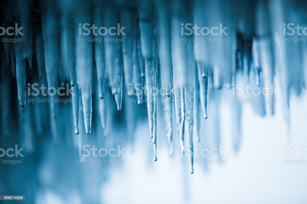 Blue Icicles abstraction stock photo