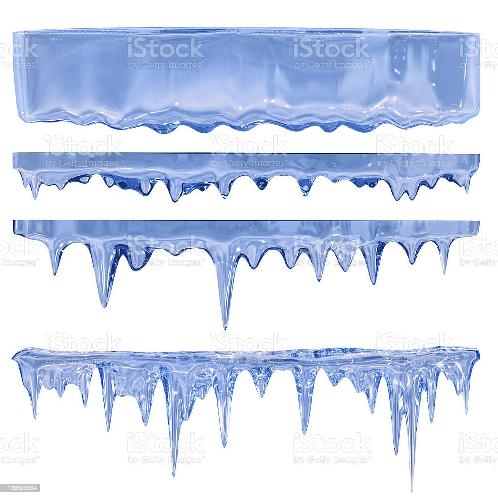 Blue icicles stock photo