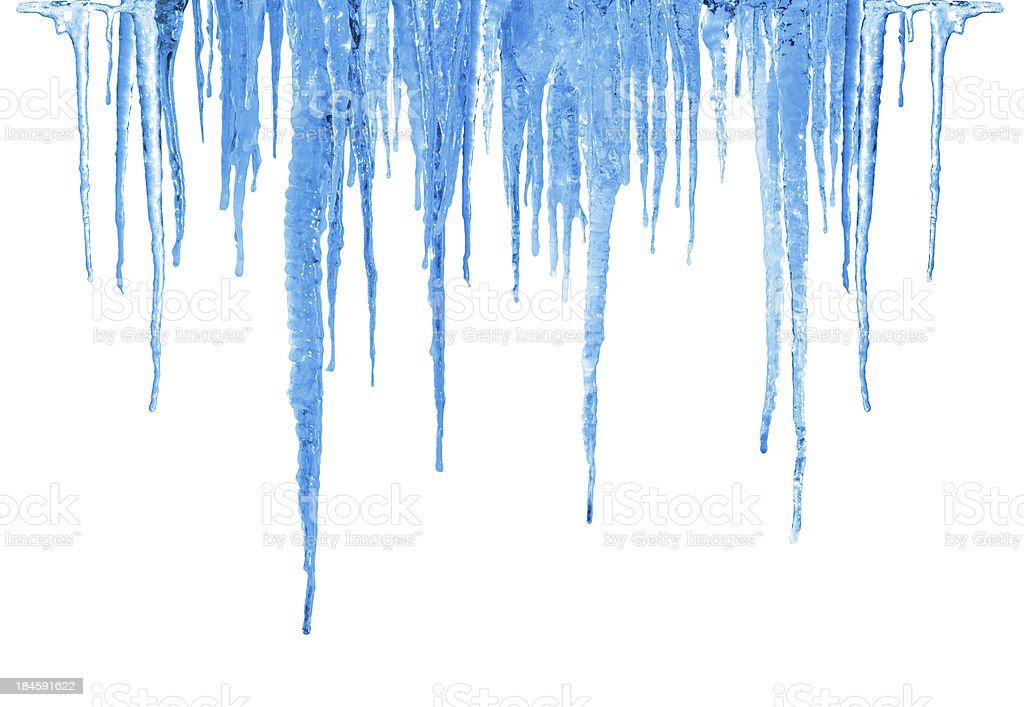 Blue Icicles. stock photo