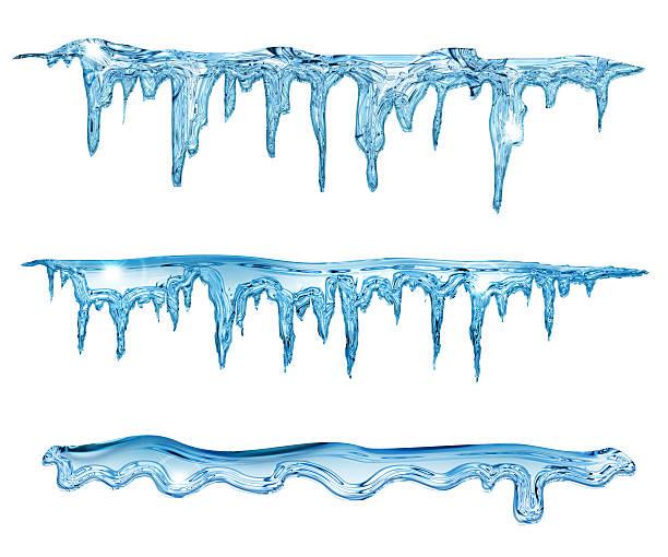 블루 icicles - 고드름 뉴스 사진 이미지