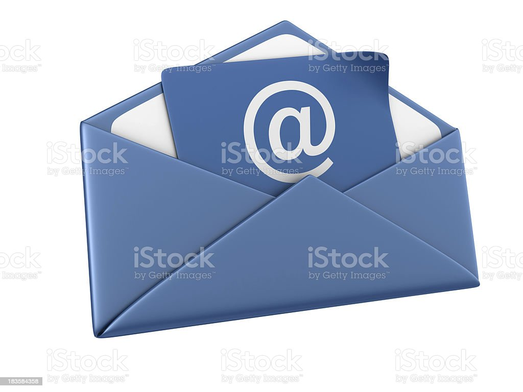 A blue icon design for e-mails royalty-free stock photo