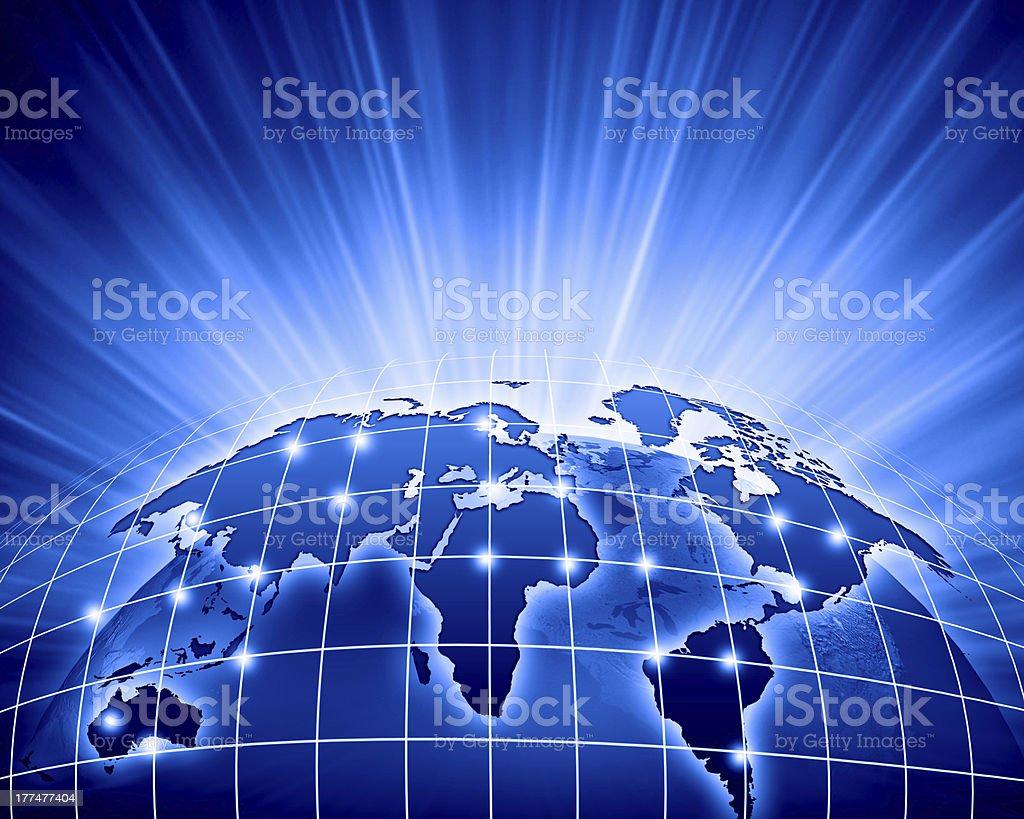 Blue image of globe royalty-free stock photo