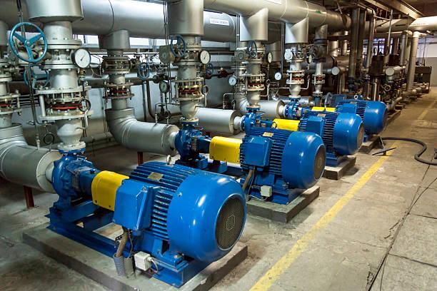 blue industrial pump - 電子摩打 個照片及圖片檔