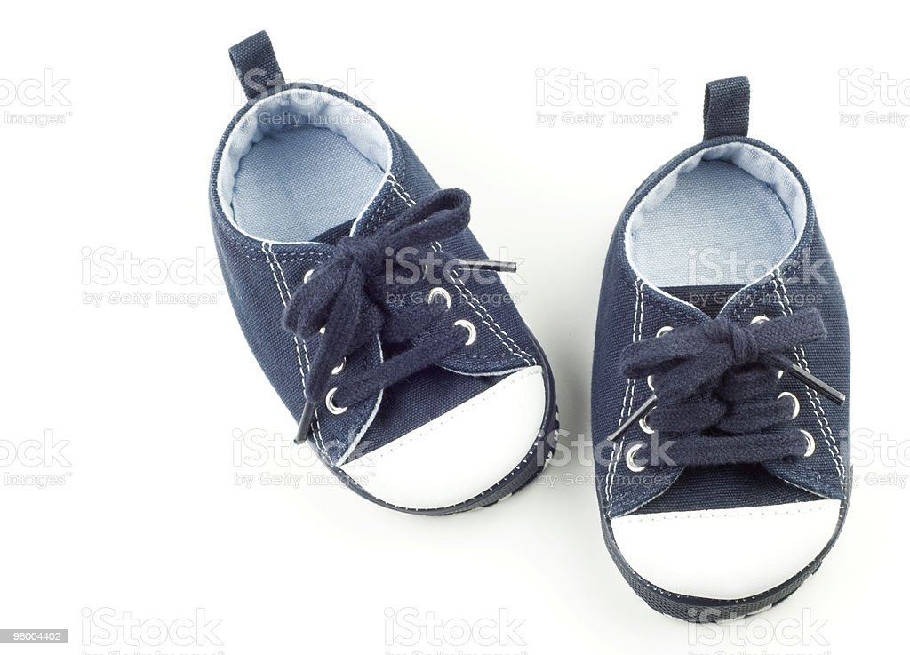 Blue Infant Shoes for Boy royalty-free stock photo