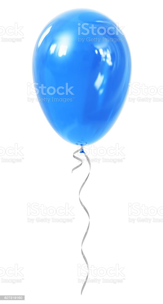 Blue inflatable air balloon stock photo