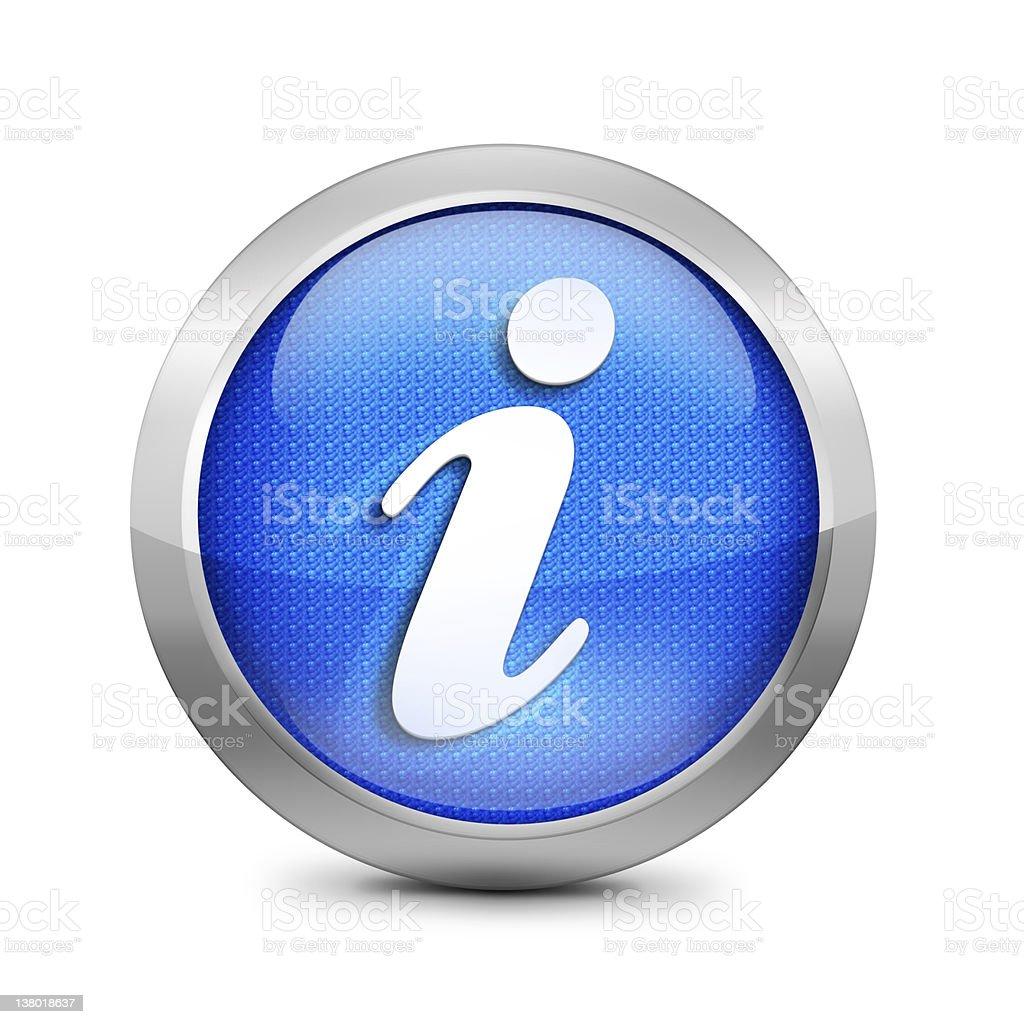 blue information icon stock photo