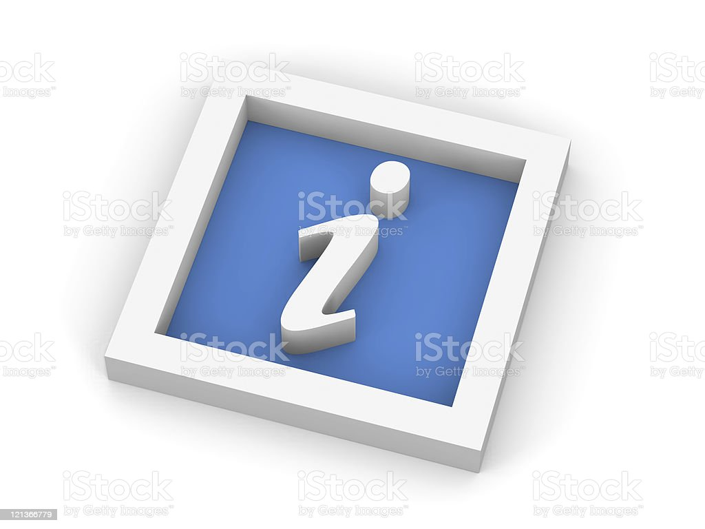 Blue Information  Symbol royalty-free stock photo