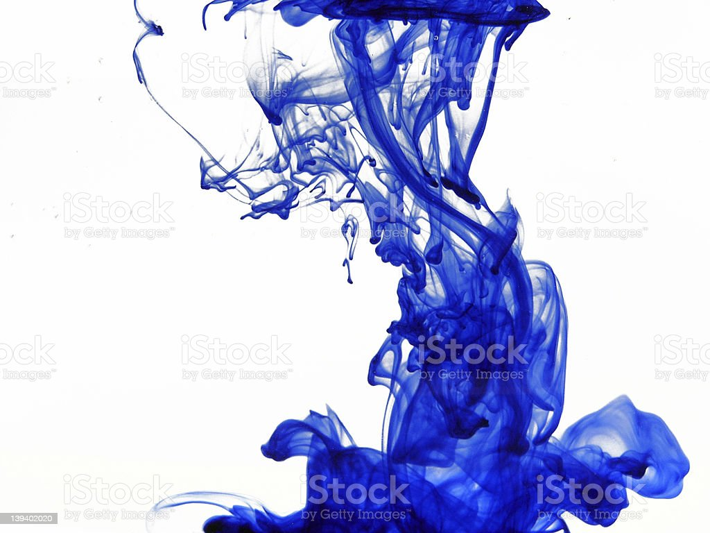 Blue ink royalty-free stock photo